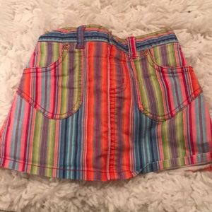 Rainbow striped Skort with shorts underneath